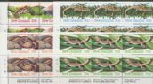 SG 1340a-4 Amphibians and Reptiles set of 5 including pair plate blocks of 6 or 8 (NF1/65)